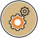 gear, gears, options, settings icon