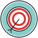 aim, arrow, bullseye, goal icon