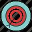 aim, arrow, bullseye, goal icon