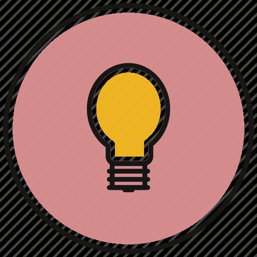 electric, idea, lamp, light icon