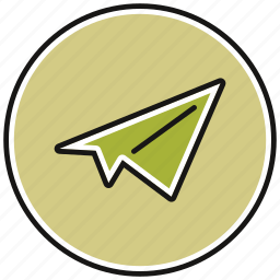 airplane, email, mail, message, paper, plane icon
