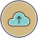 arrow, cloud, icloud, upload, uploading, upward icon