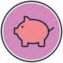 bank, cash, coin, guardar, money, save icon