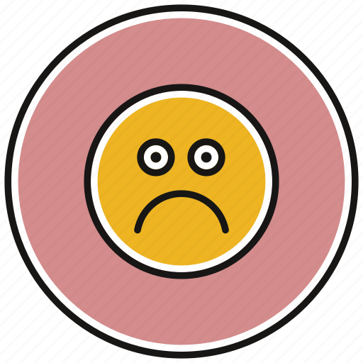 emoticons, face, sad, smiley, upset icon