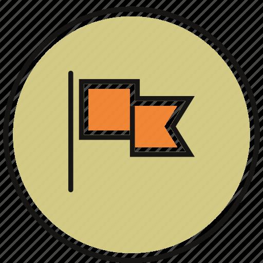 flag, notice, warning icon
