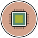 chip, gpu, hardware, microchip, processor icon