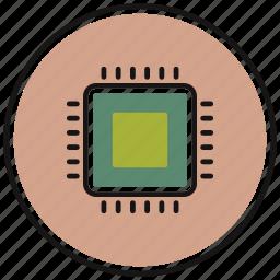 chip, gpu, hardware, microchip, processor icon