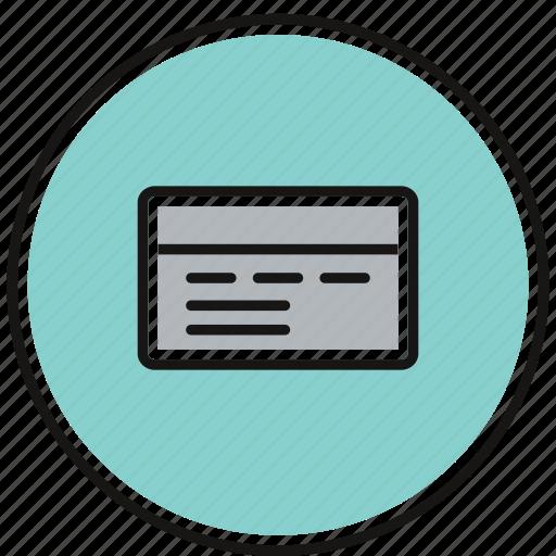 debit, finance, money, payment icon