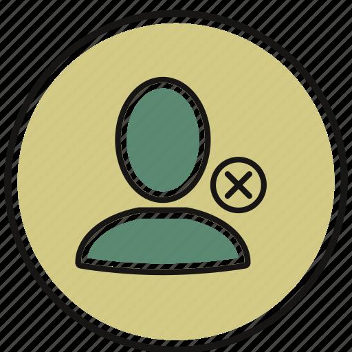 account, avatar, block, person, profile icon
