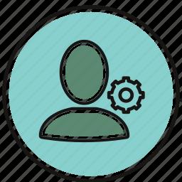 account, avatar, person, profile, setting icon