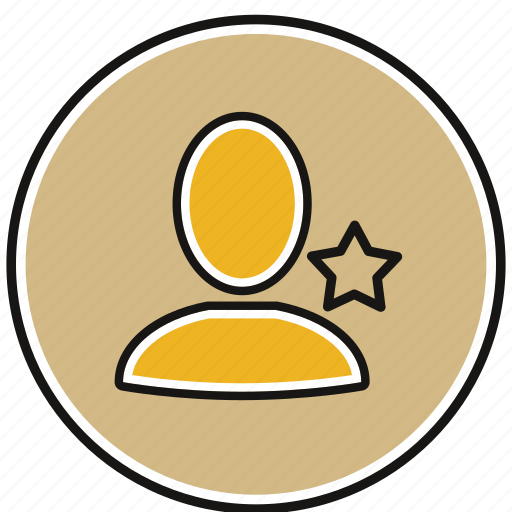 account, avatar, person, profile, star icon