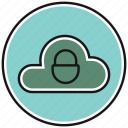 data, lock, network, storage icon