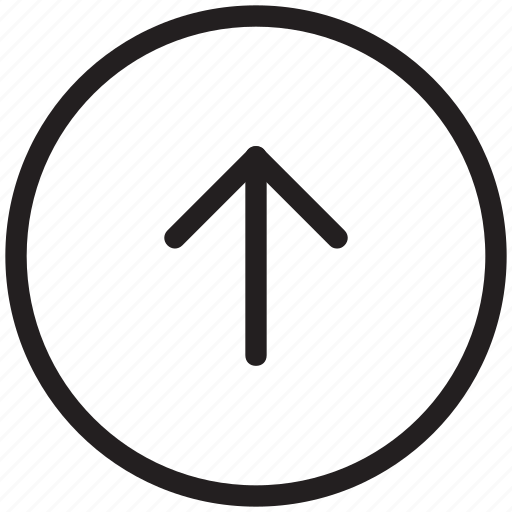 directional arrow, navigational, up arrow, upload, uploading arrow icon