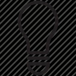 bulb, electric light, electrical bulb, energy, light, light bulb, luminaire icon