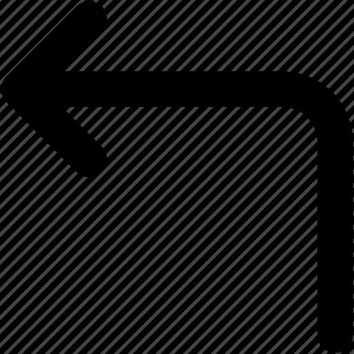 arrow, direction arrow, directional, left arrow, pointing arrow icon