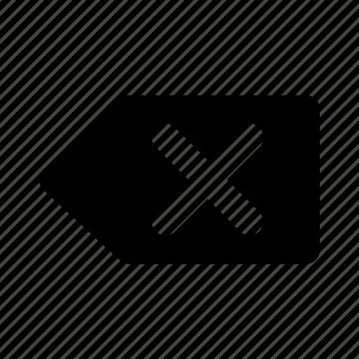 Cancel, backspace, cross, remove, delete icon