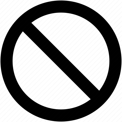 ban, blocked, cancel, forbidden, restriction icon