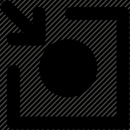 arrow, merge, merge arrow, pathfinder, shape icon