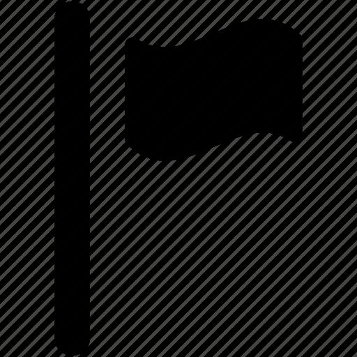 destination flag, ensign, flag, location flag, point flag icon