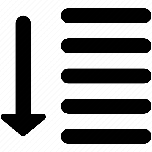 Alignment, arrow, sort descending, sort down, sorting icon - Download on Iconfinder