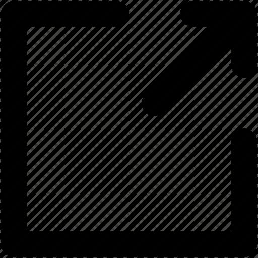arrow, directional, forward, logout, right arrow icon