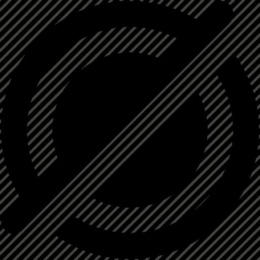 bullseye, crosshair, gps, no navigation, turnoff navigation icon