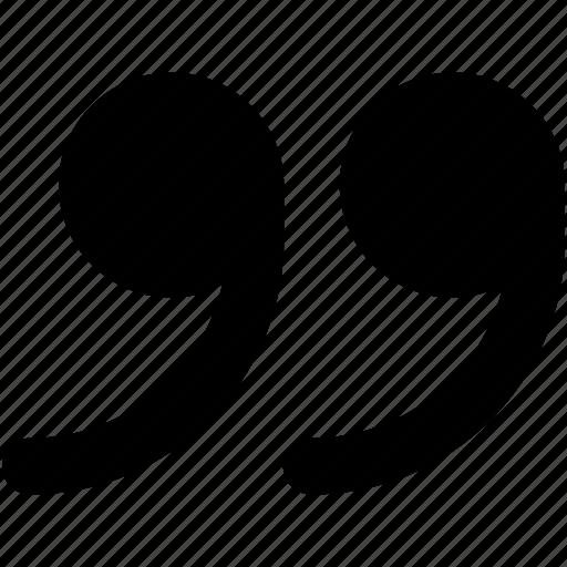 inverted commas, phrase, punctuation, quotation mark, single quote icon