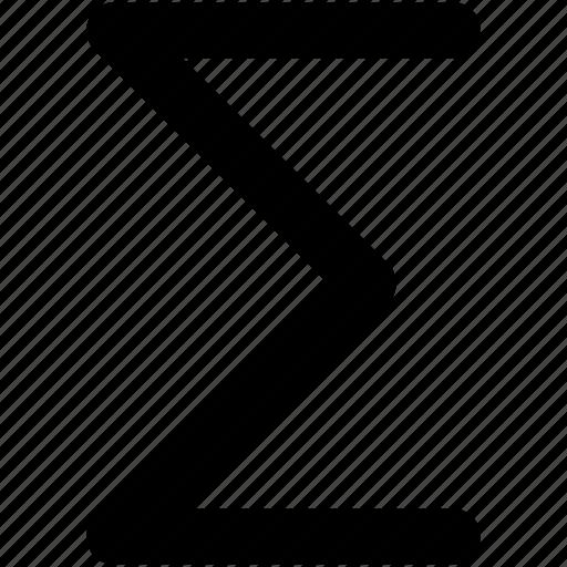 calculation, greek letter, math symbol, sigma, sum icon