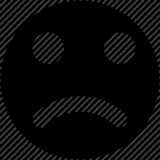 emoticon, face expression, feeling sad, sad face, sad smiley icon
