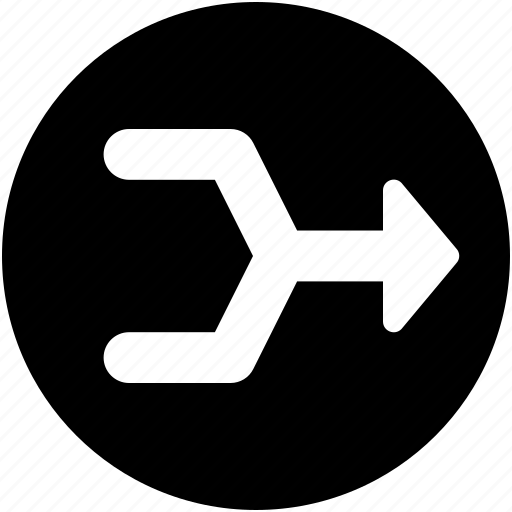aggregate, aggregate arrow, consolidate, raphael arrow, road sign icon