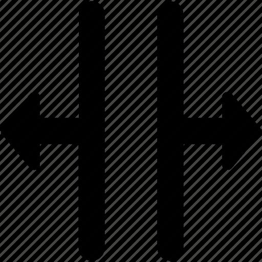 arrow, arrow directions, arrow hint, arrow pointing, horizontal resize icon