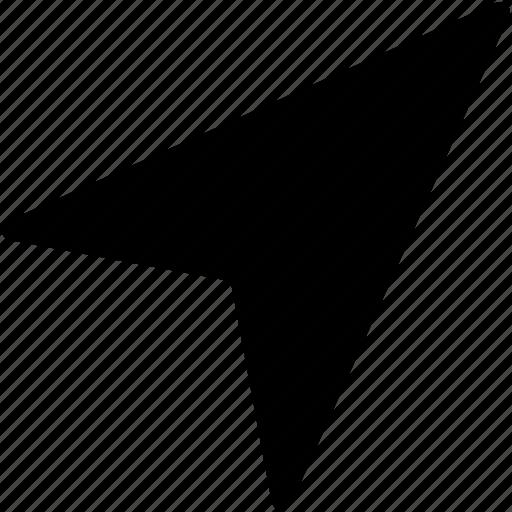 arrow location, cartography, direction arrow, navigation, navigation arrow icon