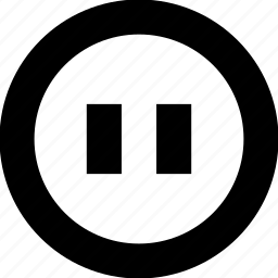 music, pause icon