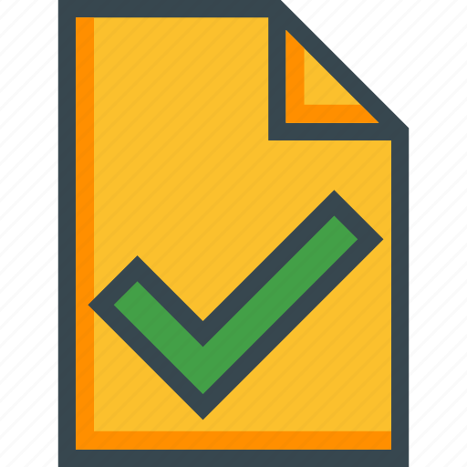 document, file, good, new, ok, page, paper icon
