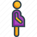 enceinte, gravid, impregnate, pregnant icon
