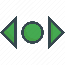 direction, horizontal, move, navigation, scroll, swipe icon