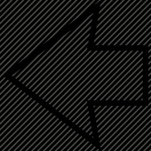 arrow, back, direction, left, orientation, previous icon