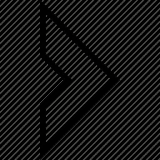 arrow, chevron, direction, navigation, next, right icon