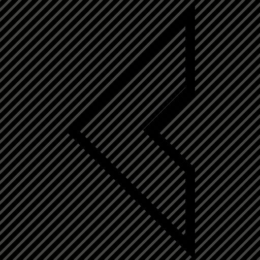 arrow, chevron, direction, navigation, previous, right icon