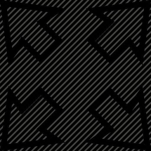 enlarge, expande, full, fullscreen, maximize, size icon