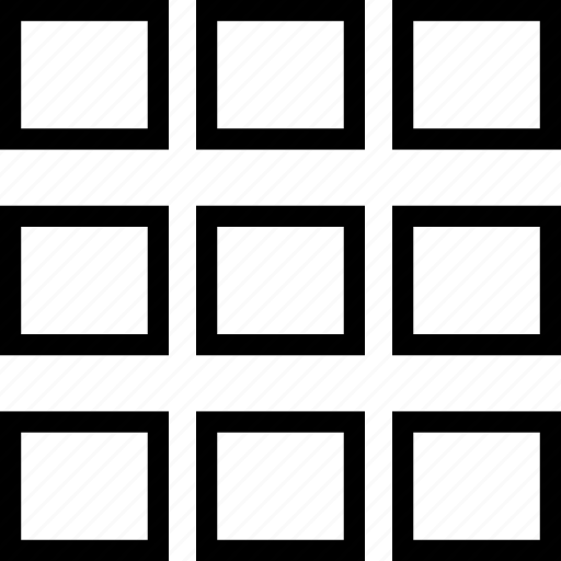 grid, squares, table, thumnails icon