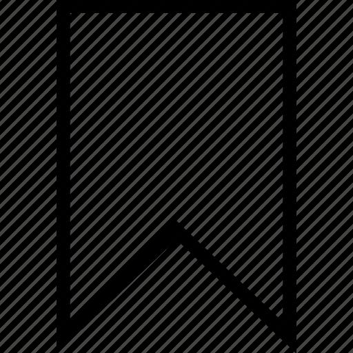 bookmark, favorite, ribbon, vertical icon