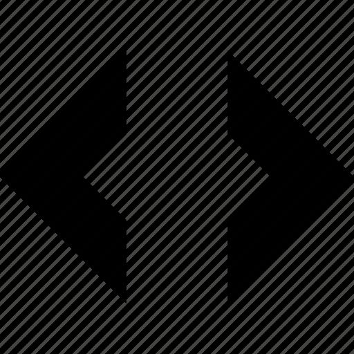 arrows, code, coding, horizontal, order, sort, source icon