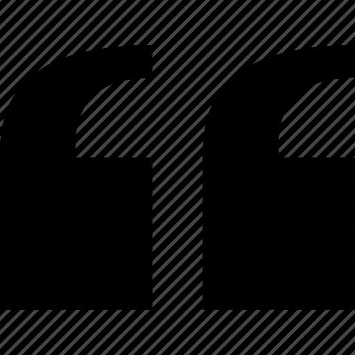 Blockquote, quotes, start, speech, marks, open, quotation icon
