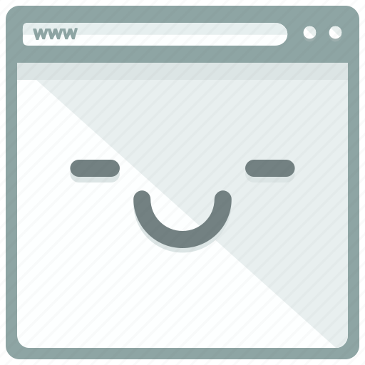 browser, emoticon, page, smile, website icon
