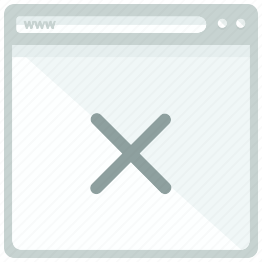 browser, cancel, delete, page, website icon