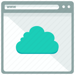 browser, cloud, interface, website icon