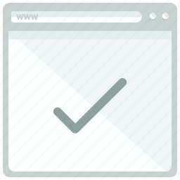 browser, checkmark, confirm, interface, website icon