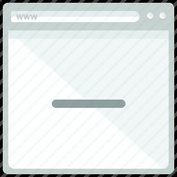 browser, delete, remove, website icon