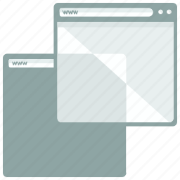 browser, duplicate, page, website icon